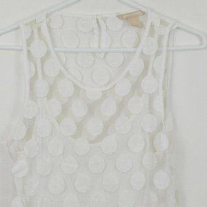 Banana Republic White XS Shirt Blouse Womens Lace